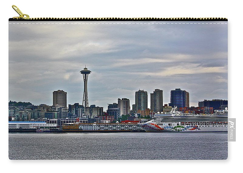 Cruise Carry-all Pouch featuring the photograph Cruise Ahead by Diana Hatcher