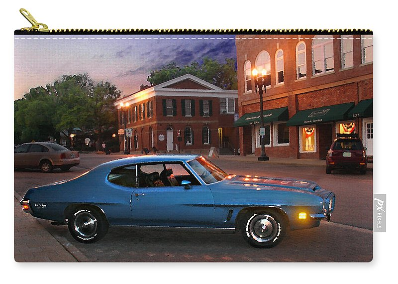 Landcape Carry-all Pouch featuring the photograph Cruise Night In Liberty by Steve Karol