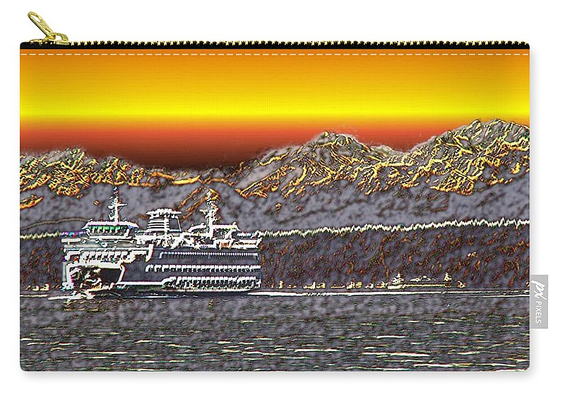 Seattle Carry-all Pouch featuring the photograph Cruisin The Sound by Tim Allen
