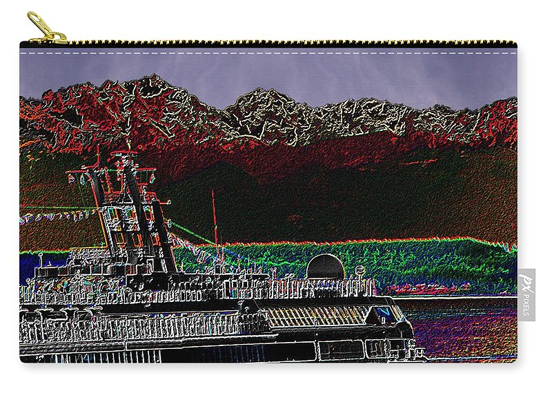 Seattle Carry-all Pouch featuring the digital art Cruising Puget Sound by Tim Allen