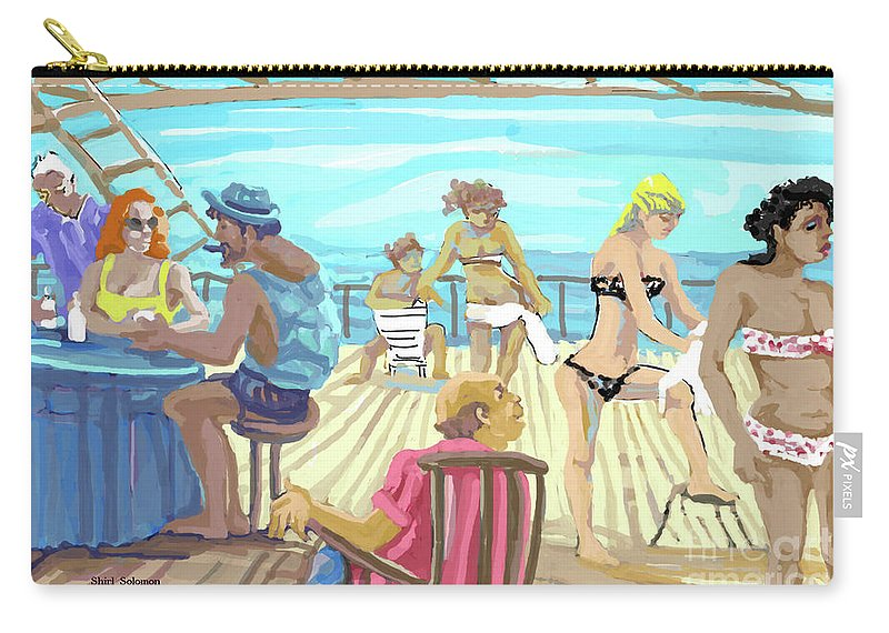 Ink Carry-all Pouch featuring the mixed media Shameful Pleasure by Shirl Solomon