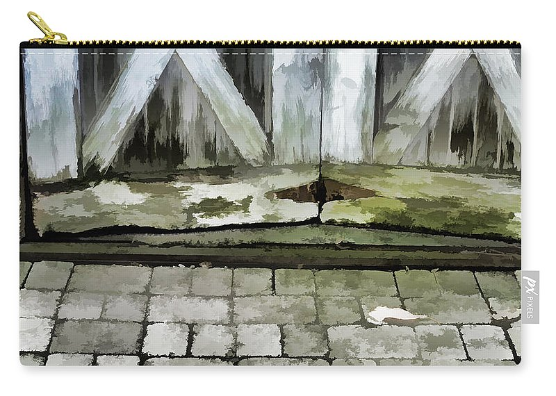 Wood Rot Carry-all Pouch featuring the photograph Crumbling Old Door by Ginger Wakem