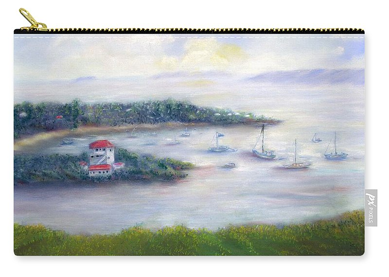 Cruz Bay Carry-all Pouch featuring the painting Cruz Bay Remembered by Loretta Luglio