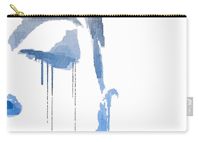 Woman Carry-all Pouch featuring the digital art Crying In Pain by ISAW Gallery