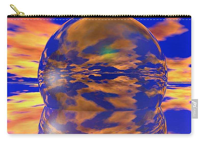 Ball Carry-all Pouch featuring the digital art Crystal Ball by Robert Orinski