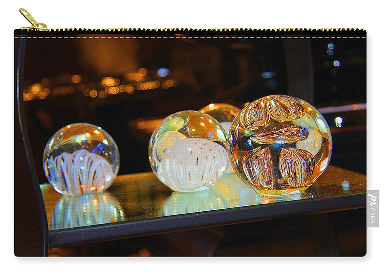 Crystal Carry-all Pouch featuring the photograph Crystal Balls by Diana Haronis