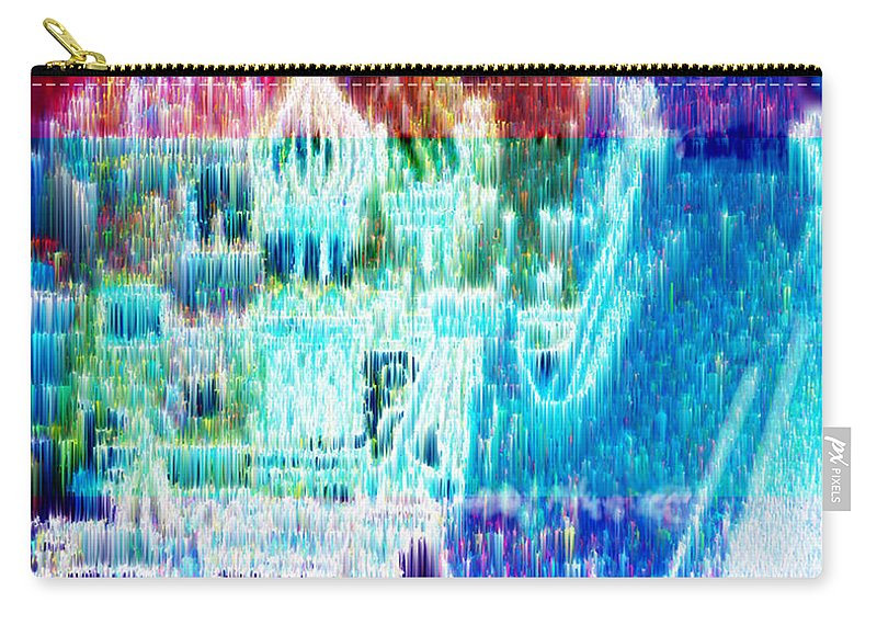 Northern Lights Carry-all Pouch featuring the digital art Crystal City by Seth Weaver