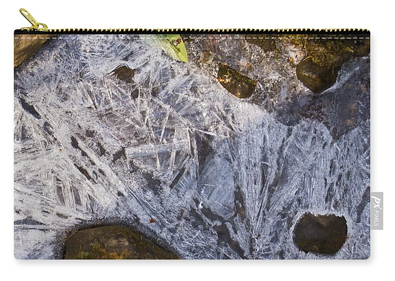 Frozen Carry-all Pouch featuring the photograph Crystal Labyrinth  by Douglas Barnett