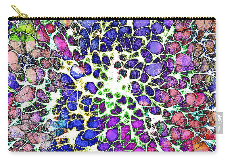 Crystal Carry-all Pouch featuring the digital art Crystal Musings 1 by Dorothy Berry-Lound