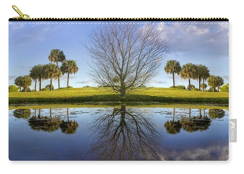 Clouds Carry-all Pouch featuring the photograph Crystal Waters by Debra and Dave Vanderlaan