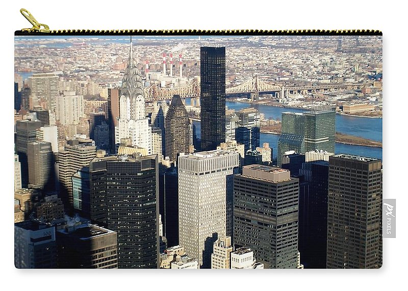 Crystler Building Carry-all Pouch featuring the photograph Crystler Building 2 by Anita Burgermeister