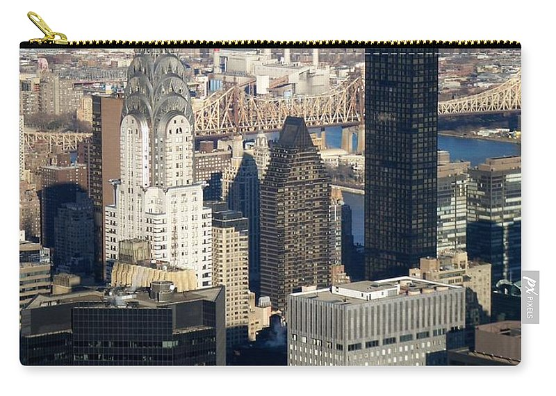 Crystler Building Carry-all Pouch featuring the photograph Crystler Building by Anita Burgermeister