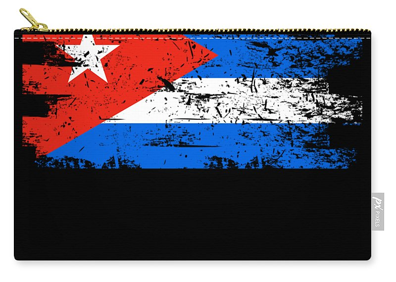 Patriotic Carry-all Pouch featuring the digital art Cuba Flag Gift Country Patriotic Travel Shirt Americas Light by J P