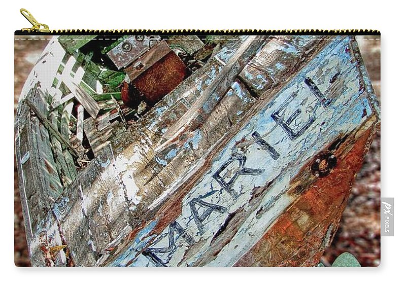Mariel Carry-all Pouch featuring the photograph Cuban Refugee Boat 3 The Mariel by Bob Slitzan