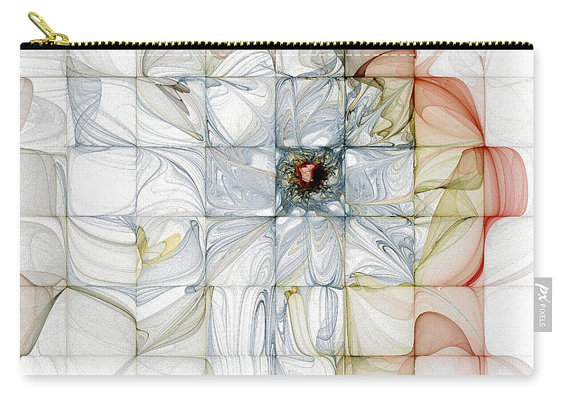 Digital Art Carry-all Pouch featuring the digital art Cubed Pastels by Amanda Moore
