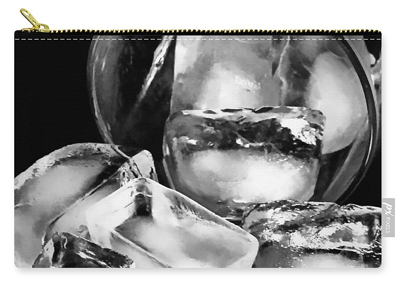 Ice Carry-all Pouch featuring the photograph Cubes by Diana Angstadt