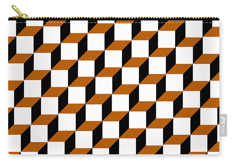 Clay Carry-all Pouch featuring the digital art Cubism Squared by Clayton Bruster