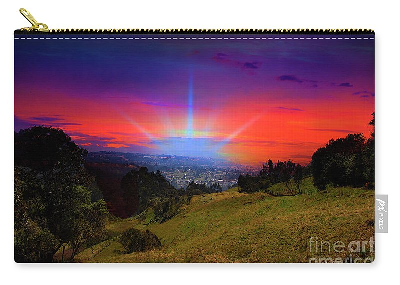 Blessed Carry-all Pouch featuring the photograph Cuenca Is Blessed II by Al Bourassa
