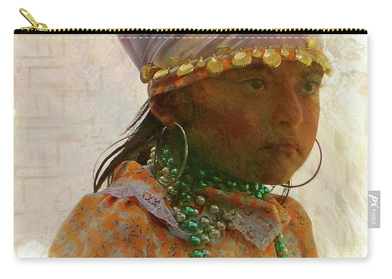 Girl Carry-all Pouch featuring the photograph Cuenca Kids 968 by Al Bourassa
