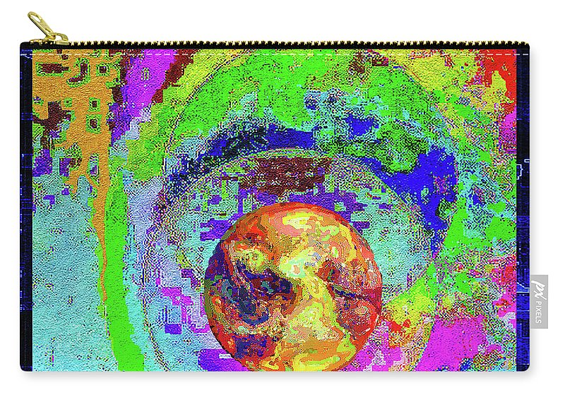 Abstract Art Carry-all Pouch featuring the mixed media Cultural Literacy For Lovers And Dreamers Number 2 by Aberjhani