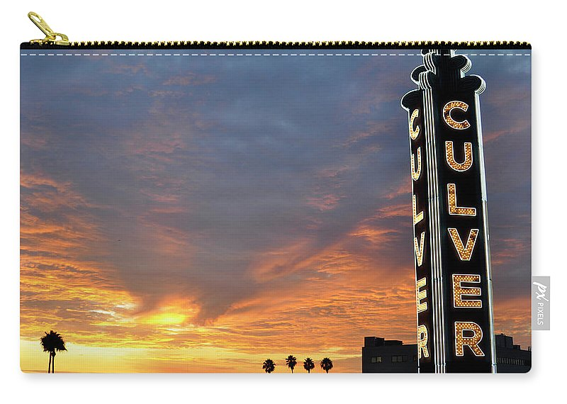 Landscape Carry-all Pouch featuring the photograph Culver City Marquee by Shannon Nickerson