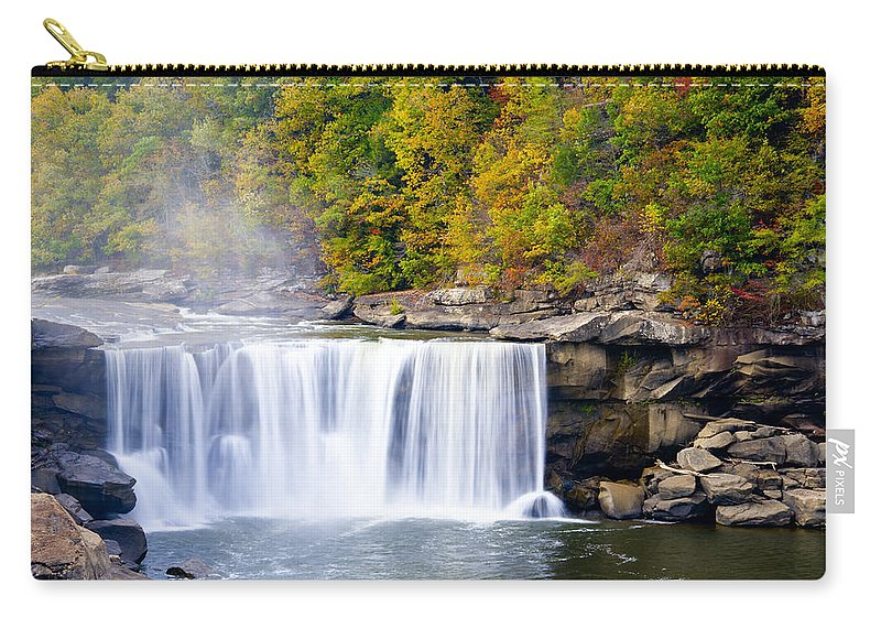 Waterfall Carry-all Pouch featuring the photograph Cumberland Falls by Alexey Stiop