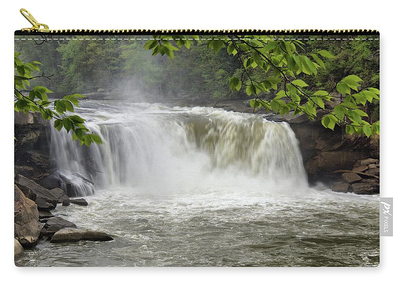Cumberland Falls Carry-all Pouch featuring the photograph Cumberland Falls Close-up by Sandy Keeton