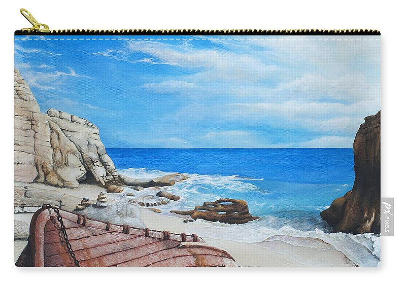 Sint Maarten Carry-all Pouch featuring the painting Cupecoy Dream by Cindy D Chinn