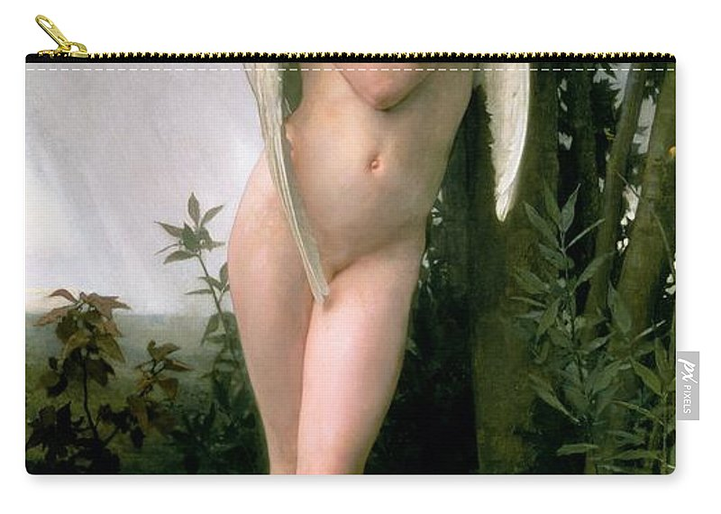 William Adolphe Bouguereau Carry-all Pouch featuring the painting Cupidon by William Adolphe Bouguereau
