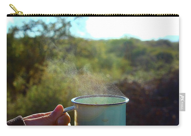 Steam Carry-all Pouch featuring the photograph Cuppa Steam by Clayton Andersen