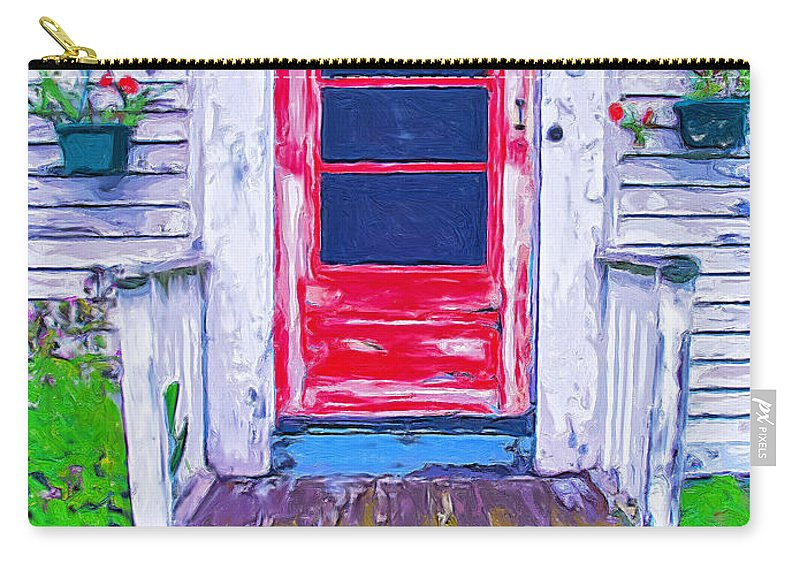 Old Home Carry-all Pouch featuring the painting Curb Appeal by Dominic Piperata