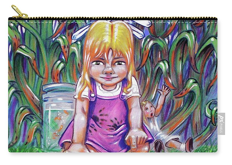 Metaphors Carry-all Pouch featuring the painting Curiosity by OR Alves Jnr