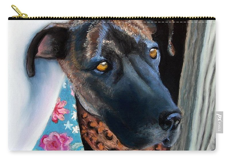 Great Dane Carry-all Pouch featuring the painting Whats Going On? by Minaz Jantz