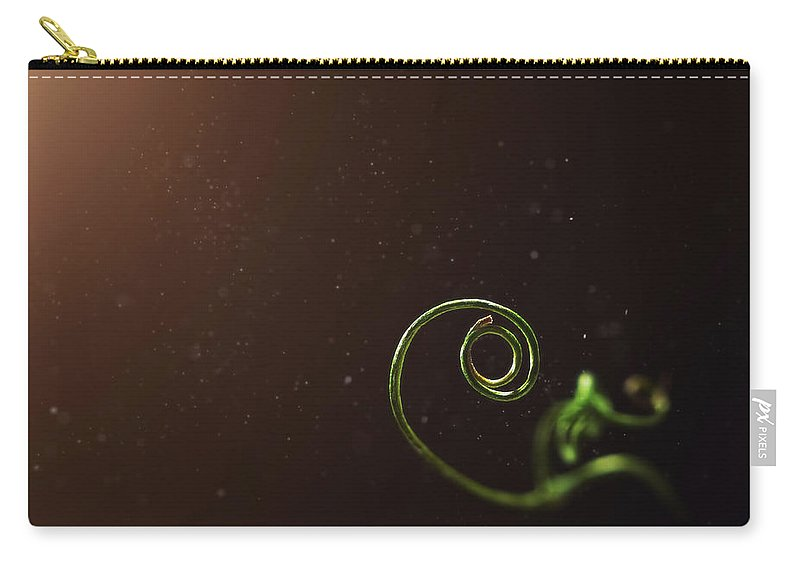 Pea Carry-all Pouch featuring the photograph Curl - A Pea Pod Shoot by Scott Norris