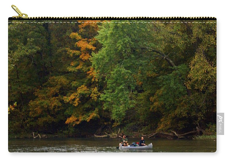 Current River Carry-all Pouch featuring the photograph Current River 2 by Marty Koch