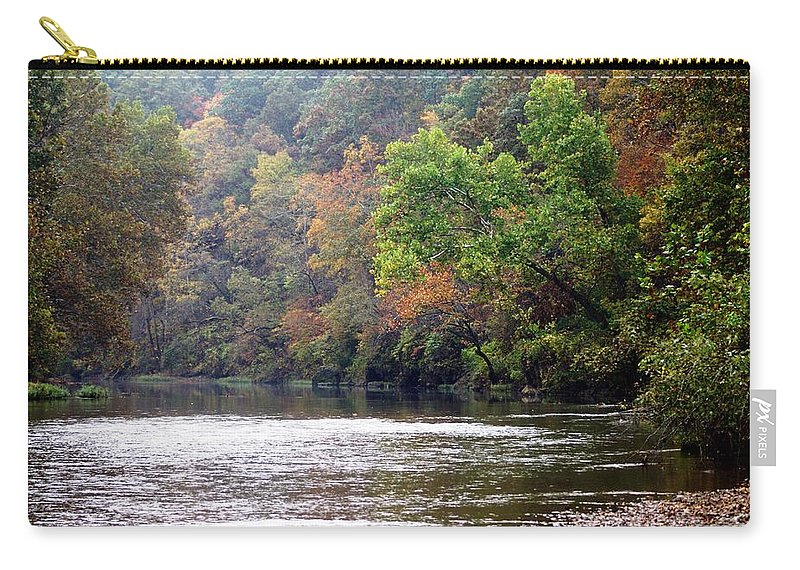 Current River Carry-all Pouch featuring the photograph Current River Fall by Marty Koch