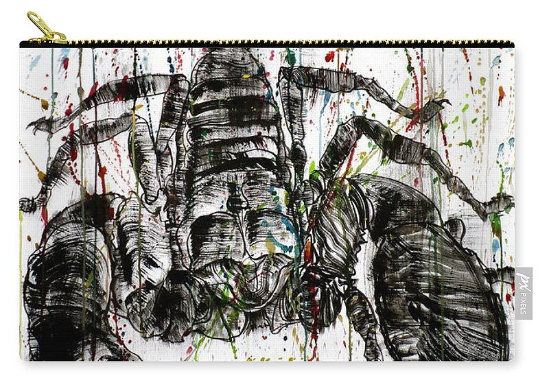Scorpion Carry-all Pouch featuring the painting Currently For Sale by Fabrizio Cassetta