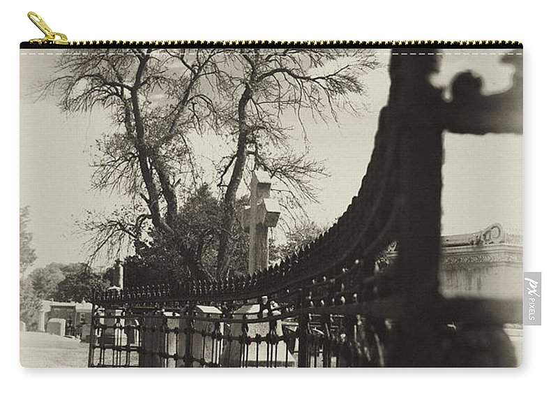 Gate Carry-all Pouch featuring the photograph Curved Gate by Scott Wyatt