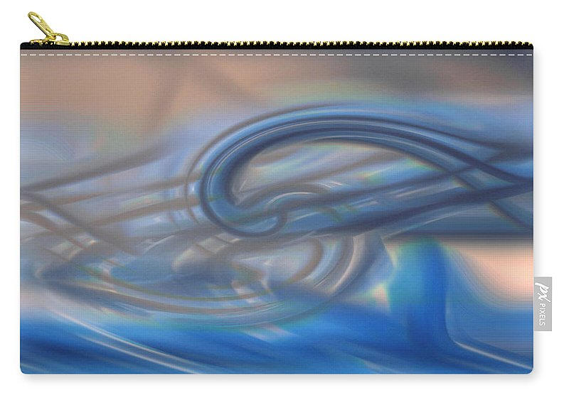 Abstracts Carry-all Pouch featuring the digital art Curved Lines by Linda Sannuti