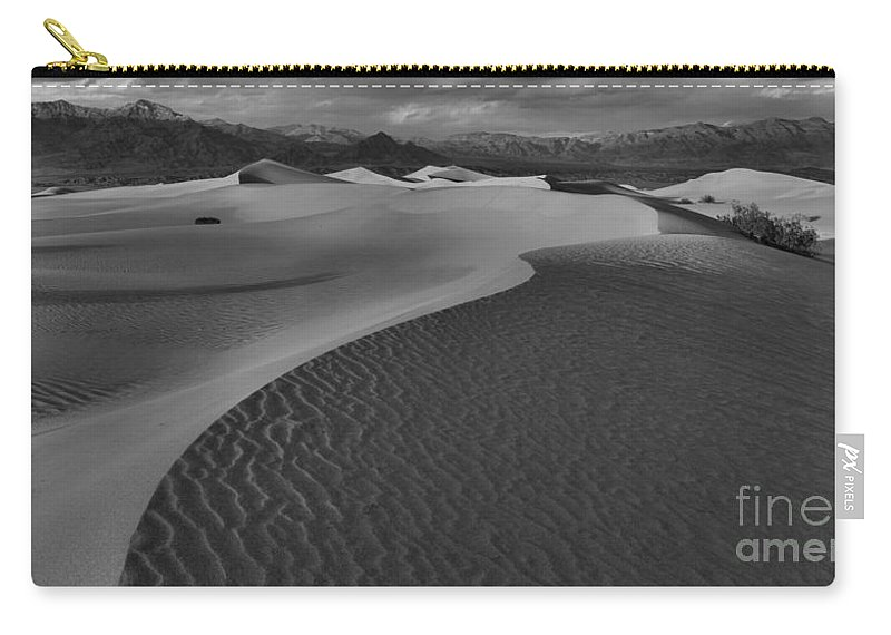 Black And White Carry-all Pouch featuring the photograph Curves Into The Night by Adam Jewell