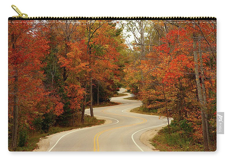 3scape Carry-all Pouch featuring the photograph Curvy Fall by Adam Romanowicz