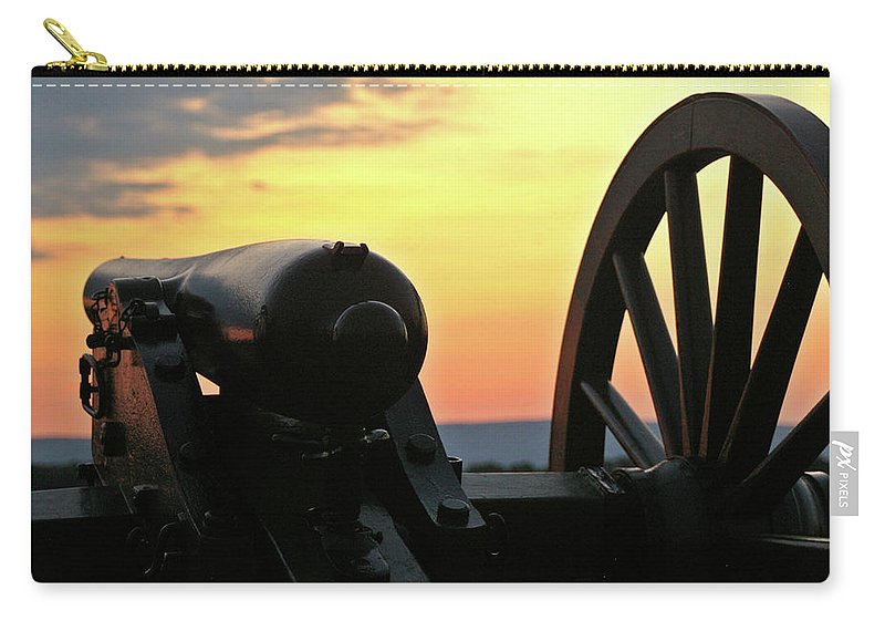 Civil War Carry-all Pouch featuring the photograph Cushing's Battery by Jen Goellnitz