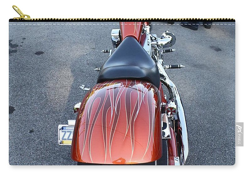 Cars Carry-all Pouch featuring the photograph Custom Bike 2 by Karl Rose