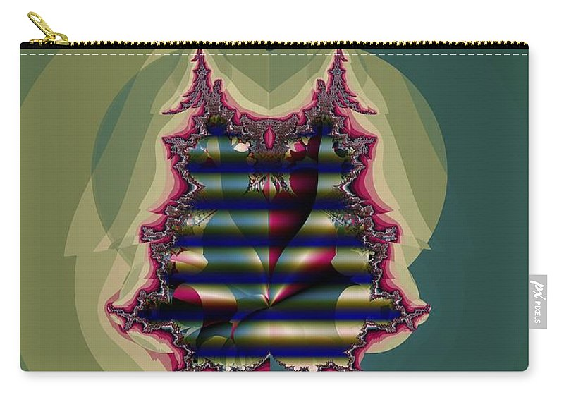 Quilted Carry-all Pouch featuring the digital art Custom Quilted Shade by Ron Bissett