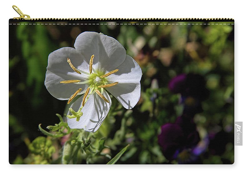 Flower Carry-all Pouch featuring the photograph Cutleaf Primrose by Alana Thrower