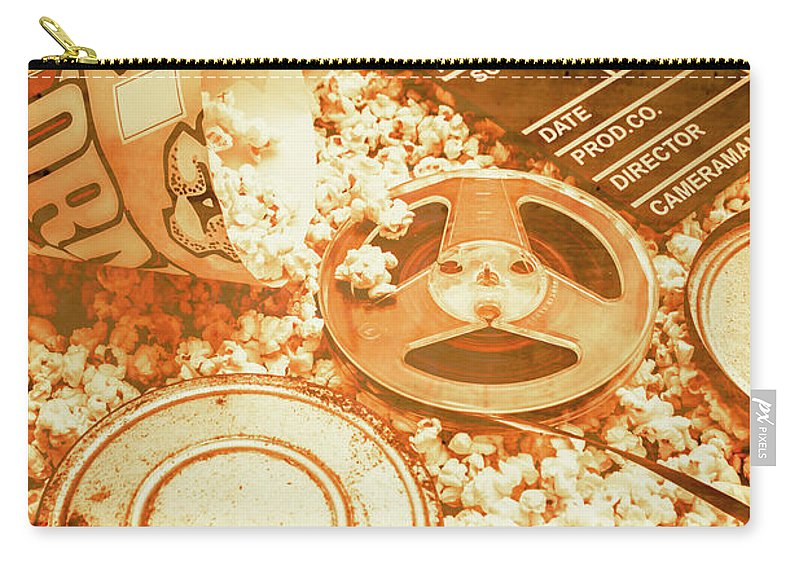 Vintage Carry-all Pouch featuring the photograph Cutting A Scene Of Vintage Film by Jorgo Photography - Wall Art Gallery