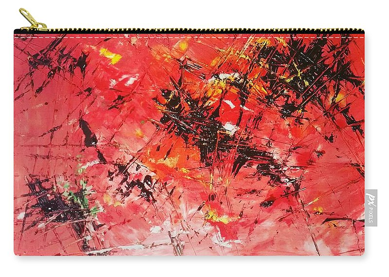 Carry-all Pouch featuring the painting Cutting Edge by Anitra Carter