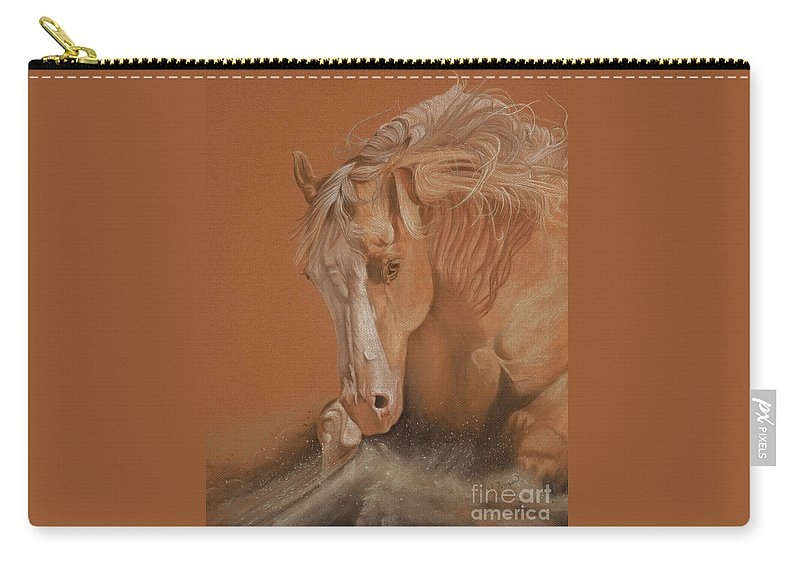 Horse Carry-all Pouch featuring the painting Cutting Horse by Gail Finger