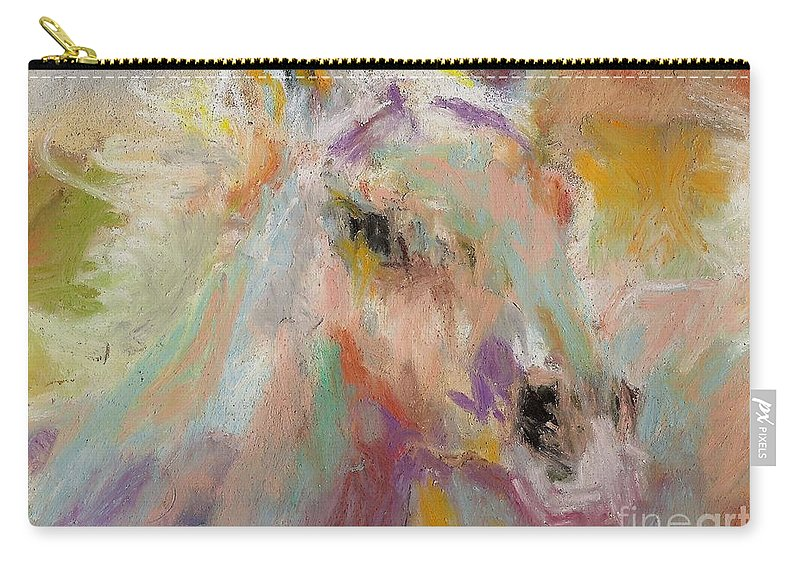 Horses Carry-all Pouch featuring the painting Cutting Loose by Frances Marino