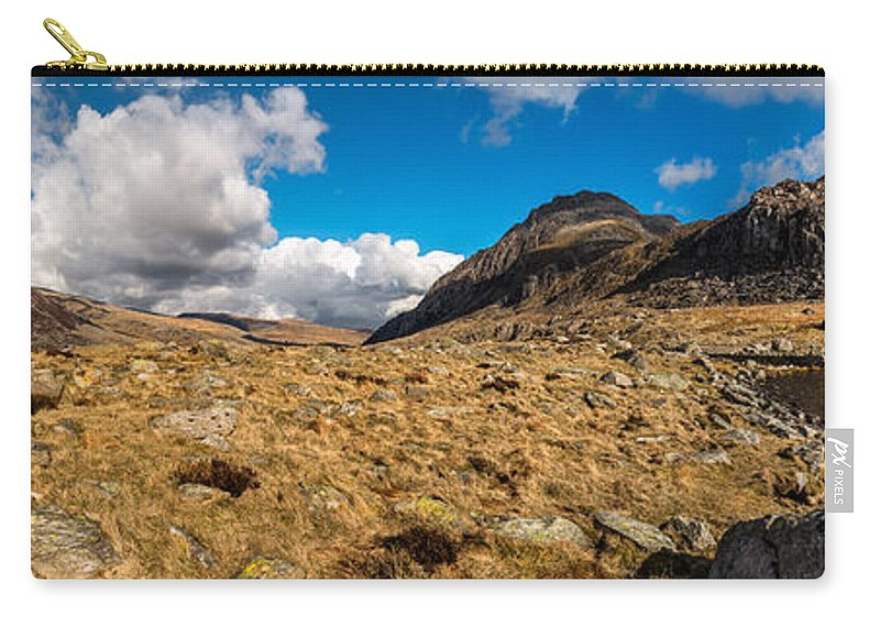 Winter Carry-all Pouch featuring the photograph Cwm Idwal Panorama by Adrian Evans